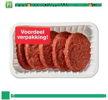 Biologische hamburgers aanbieding