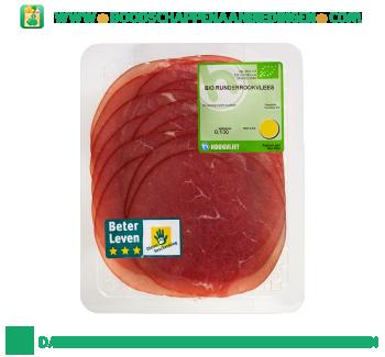 Biologische runderrookvlees aanbieding