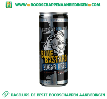 Blue Bastard No sugar energy aanbieding