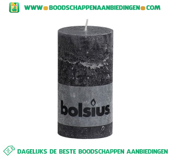Bolsius Stompkaars 130/68 rustiek antraciet aanbieding