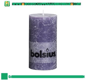Bolsius Stompkaars 130/68 rustiek oud paars aanbieding