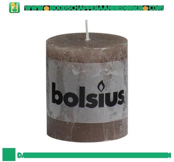 Bolsius Stompkaars 80/68 rustiek taupe aanbieding