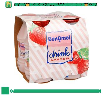 BonOmel Drinkyoghurt aardbei 4-pak aanbieding