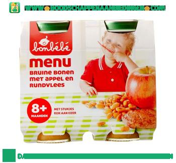Bonbébé 08m108 bruine bonen met appel en rundvlees aanbieding