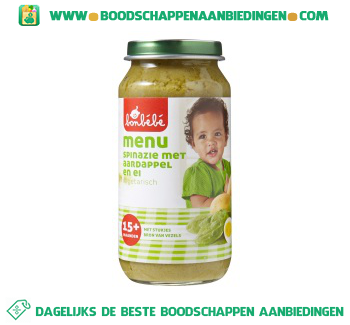 Bonbébé 15m203 spinazie met aardappel en ei aanbieding