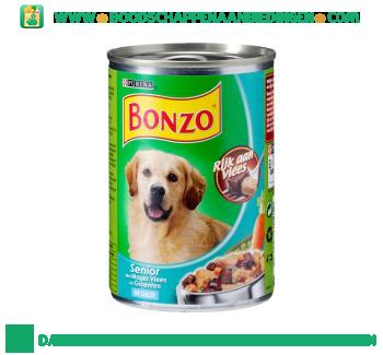 Bonzo Senior met mager vlees & groenten aanbieding