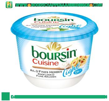Boursin Cuisine knoflook en fijne kruiden light aanbieding