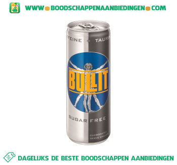 Bullit Energy drink sugarfree aanbieding