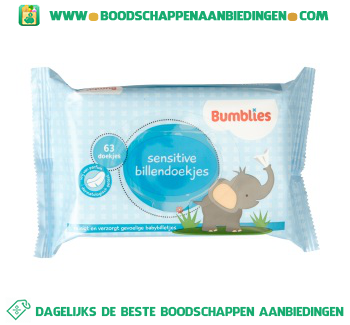 Bumblies Sensitive billendoekjes aanbieding