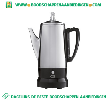 C3 Percolator automatisch verse koffie zetten aanbieding