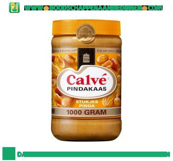 Calvé Pindakaas stukjes noot aanbieding