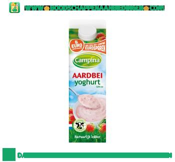 Campina Aardbei yoghurt aanbieding