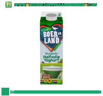 Campina Boer en Land biologische halfvolle yoghurt aanbieding