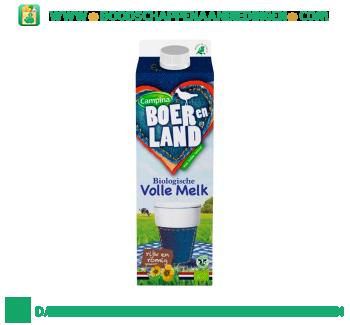 Campina Boer en Land biologische volle melk aanbieding