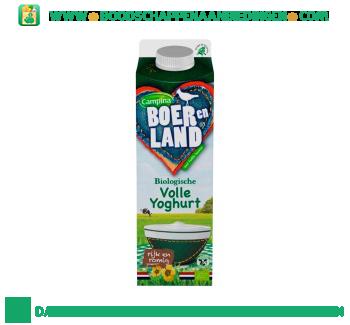 Campina Boer en Land biologische volle yoghurt aanbieding