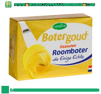 Campina Botergoud gezouten roomboter aanbieding