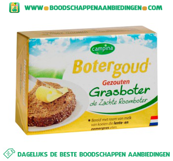 Campina Botergoud grasboter gezouten aanbieding
