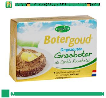 Campina Botergoud grasboter ongezouten aanbieding
