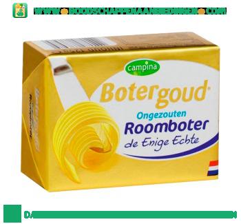 Campina Botergoud roomboter ongezouten aanbieding