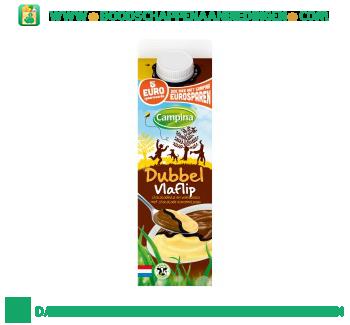 Campina Dubbel vlaflip chocolade&vanille aanbieding