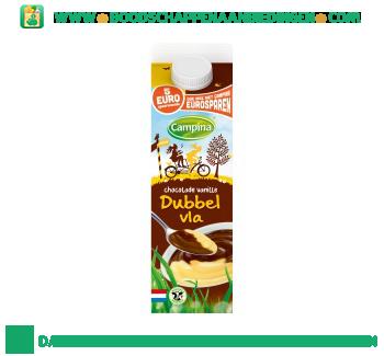 Campina Dubbelvla chocolade vanille aanbieding