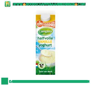 Campina Halfvolle vanille yoghurt aanbieding