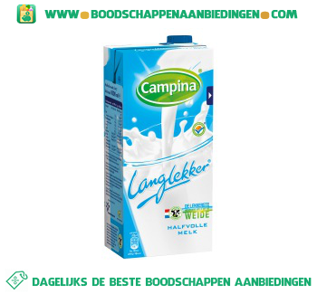 Campina Lang lekker halfvolle melk aanbieding