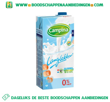 Campina Lang lekker magere melk aanbieding