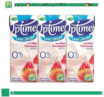 Campina Optimel drink aardbei framboos 0% vet 6-pak aanbieding