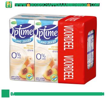 Campina Optimel drink perzik abrikoos 0% vet 6-pak aanbieding