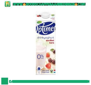 Campina Optimel drinkyoghurt aardbei kers aanbieding