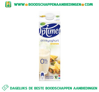 Campina Optimel drinkyoghurt ananas aanbieding