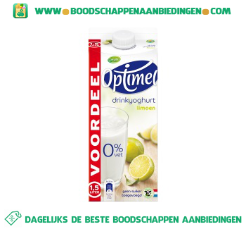 Optimel drinkyoghurt limoen aanbieding