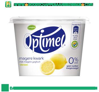 Optimel kwark citroen aanbieding