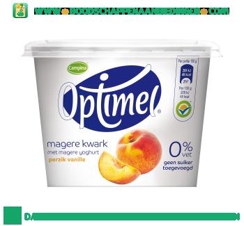 Campina Optimel kwark perzik vanille aanbieding