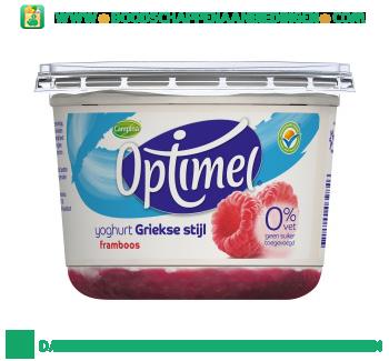 Optimel yoghurt Griekse stijl framboos aanbieding