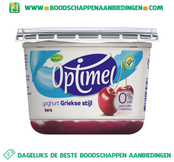Campina Optimel yoghurt Griekse stijl kers aanbieding