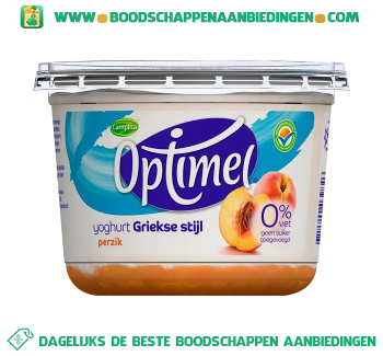 Campina Optimel yoghurt Griekse stijl perzik aanbieding