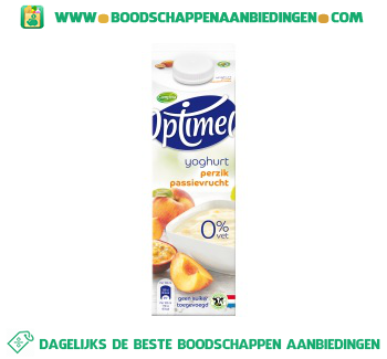 Optimel yoghurt perzik passievrucht aanbieding