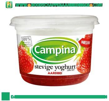 Campina Stevige yoghurt aardbei aanbieding