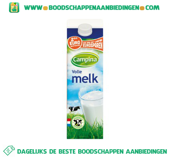 Campina Volle melk aanbieding