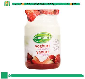 Campina Yoghurt op fruit aardbei aanbieding