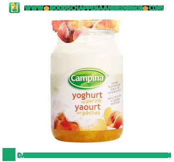 Campina Yoghurt op fruit perzik aanbieding