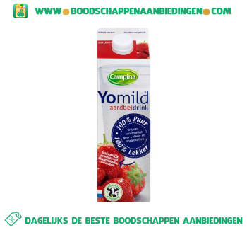 Campina Yomild aardbeidrink aanbieding