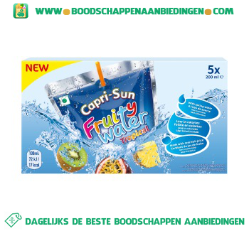 Capri Sun Fruity water tropical aanbieding