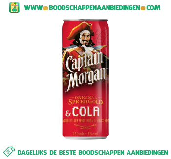 Captain Morgan Rum & cola aanbieding