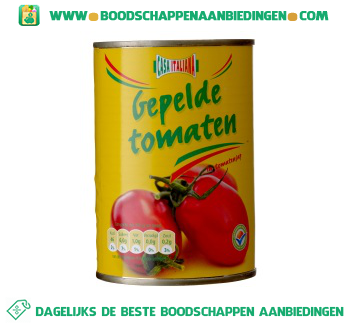 Gepelde tomaten aanbieding