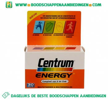 Centrum Energy multivitamines aanbieding