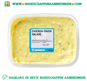 Chicken-onion salade aanbieding