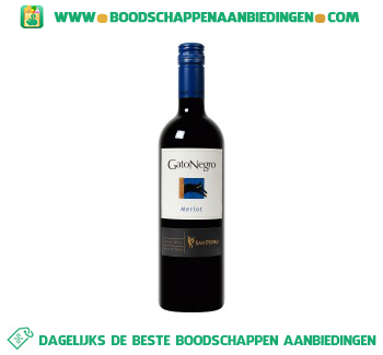 Chili Gato Negro merlot central valley aanbieding